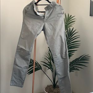 LOGG H&M Skinny Fit/Coupe Skinny Grey Chinos